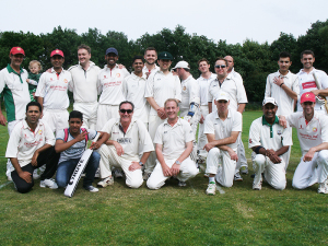 Often international teams tour Hamburg fpr a cricket match