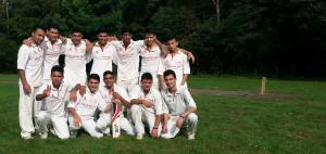 Das U19 Team des THCC Rot-Gelb Cricket Hamburg als frischgebackener NDCV Meister