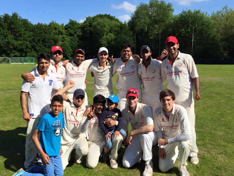 Die United Nations of Cricket: das siegreiche Team gegen die SG Findorff